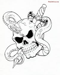 sword snake and flaming skull tattoos in 2017 photo
