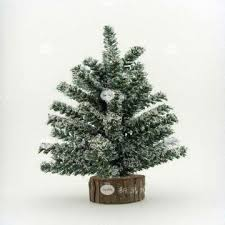 12 inch pine mix white tinsel artificial tree with wood
