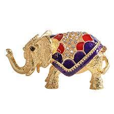 asian elephant ring holder images Cute treasure trinket box with golden elephant ring holder zen jpg