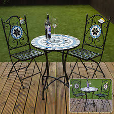 outdoor mosaic bistro table mosaic table ebay