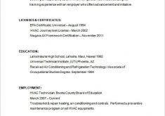 hvac resume format download hvac resume template 100 tech