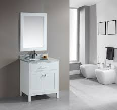 Modern Classic Bathroom Modern Classic Bathroom With Distressed White Single Vanity Also