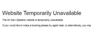 Site Unavailable - new promotion crashes air new zealand site stuff co nz