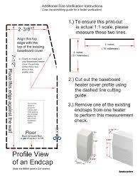 amazon com baseboarders 7 u0027 length deluxe slip on baseboard heater
