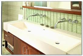 trough sink two faucets trough bathroom sink with two faucets lovely bathroom home designs