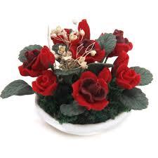 Wohnzimmer M El F Puppenhaus 1 12 Puppenhaus Miniature Lehm Pflanzen Rose Schleierkraut Blume
