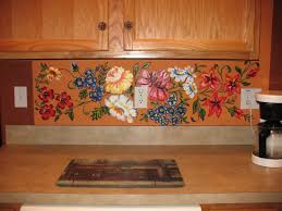 Kitchen Tile Murals Backsplash Kitchen Interesting Ideas For Kitchen Wall Decoration Using Tile