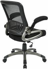Fold Up Desk Chair Office Star Mesh Task Chair With Flip Up Arms Em35207 Office