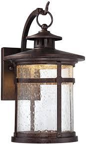 amazon outdoor light fixtures callaway rustic bronze 11 1 2 high led outdoor wall light elegant
