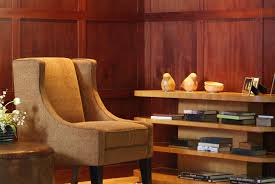 glamorous modern wood paneling interior photo design inspiration