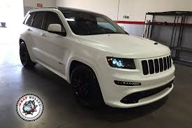 jeep srt jeep srt wrapped in 3m satin white wrap wrap bullys
