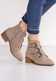 ankle boots uk look look ankle boots beige zalando co uk
