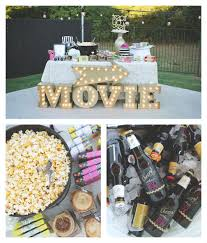 Backyard Movie Party Ideas by Outdoor Movie Night 30th Birthday Party Party Party Pinterest