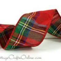 plaid ribbon decore