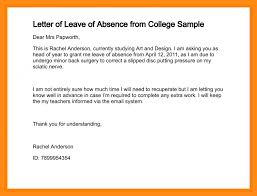 leave of absence letter leave of absence template leave of