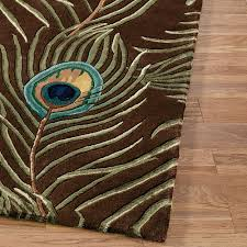 peacock feathers rug runner