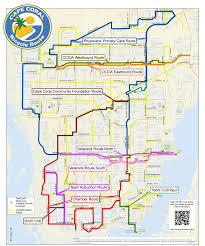 Fort Myers Florida Map by Cape Coral Bicycling Interactive Maps