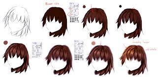 anime hairstyles tutorial easy anime hair tutorial by ryky on deviantart