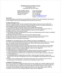 wedding planner contracts event planning agreement template event contract template 9