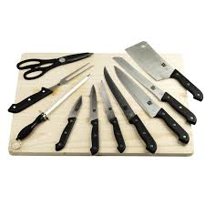 what is a set of kitchen knives deluxe kitchen knife set with wood cutting board 10