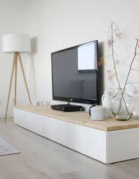 ikea credenza hack white living room features ikea besta tv unit with large tv onit