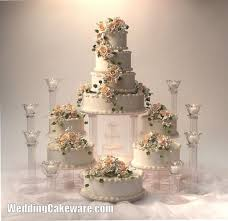 9 tier cascading fountain wedding cake stand stands set fountain