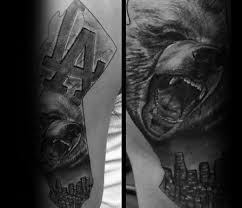 30 los angeles skyline tattoo designs for men southern