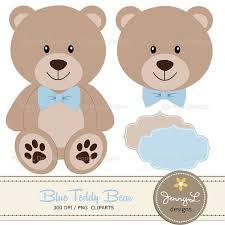 teddy baby shower blue teddy digital papers teddy clipart baby shower