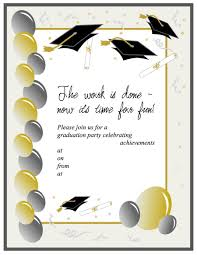 graduation invite 40 free graduation invitation templates template lab