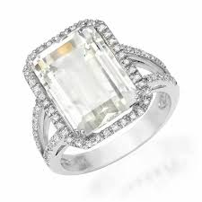 white topaz engagement ring emerald cut white topaz ring liven company