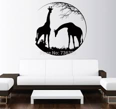 popular wall stickers animals black buy cheap wall stickers african animal wall sticker south africa giraffes glass mural wall decal black removeable animal room sticker