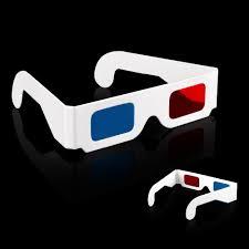 200pcs paper 3d glasses 3d rearview blue