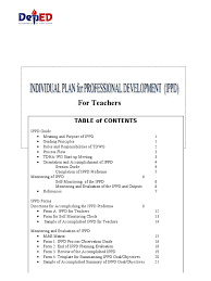 individual plan for professional development ppd 2