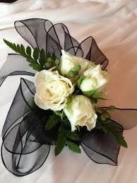 black and white corsage boutonnieres and corsages page 1 showcase design n bloom