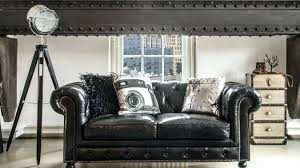 canap chesterfield noir canapes chesterfield canapac chesterfield noir style industriel