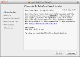 file format quicktime player run quicktime player 7 in os x yosemite open mobile share