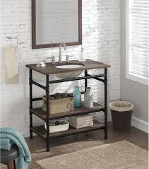 Industrial Style Bathroom Vanity by Shelf Vanity Industrial 36