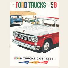 Old Ford Truck Brochures - 1958 ford trucks full line brochure u2013 oldcuts