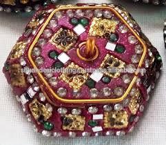 popular rajasthani traditional wedding gifts small lac box lot
