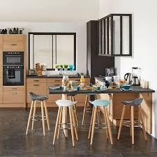 bar dans une cuisine cuisine le bois s invite dans la cuisine dans la déco ou l