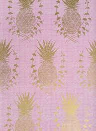 royal pineapple pink wallpaper floral organic prints wallpaper