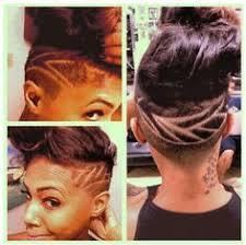 Black Hairstyles With Shaved Sides Shaved Side Haircut Black Woman Shaved Side Haircut Side