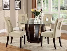 Dining Table Glass by 5 Piece Glass Dining Table Set Best Home Design Ideas