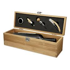 wine set gifts wine set in bamboo wood wine bottle gift box business gifts supplier