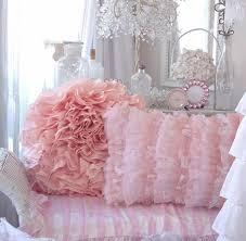 Ruffle Bedding Shabby Chic by Shabby Beach Cottage Chic Peach Bahama Pink Ruffle Pillow Shabby
