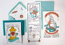 nautical themed wedding invitations jason s illustrated nautical wedding invitations