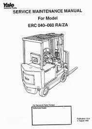 yale electric forklift truck type esc30ea workshop service manual