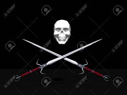 Picture Of A Pirate Flag Jolly Roger Pirate Flag With Skull And Two Crossing Swords In