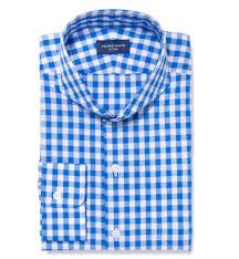 light blue large gingham custom dress shirt by proper cloth