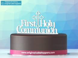 communion cake toppers holy communion white christian celebration cake topper